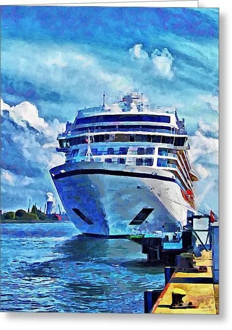 Beautiful Ship Greeting Card