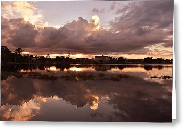 Beautiful Sky At Sunset Greeting Card