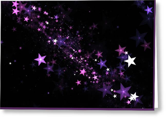Beautiful Stars Particles Background Greeting Card by StarLineArts