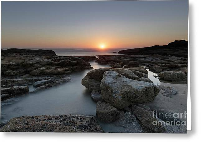 Beautiful Sunset At Yachats, Oregon Greeting Card