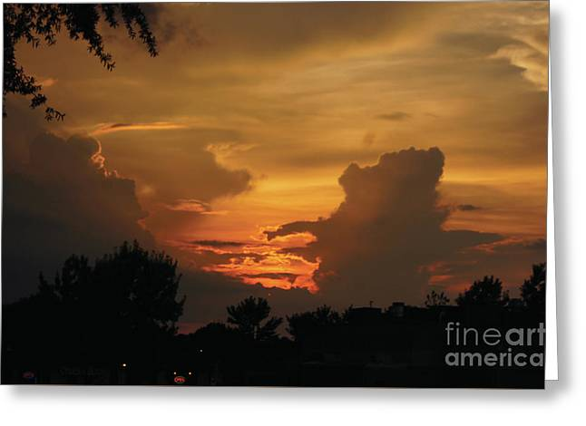 Greeting Card featuring the photograph Beautiful Sunset by Debra Crank