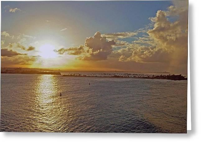 Beautiful Sunset Greeting Card by Gary Wonning