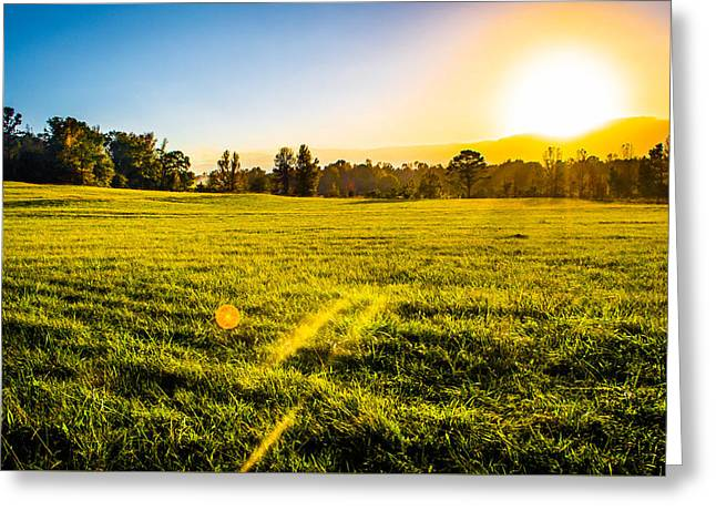 Beautiful Sunset Hues On The Farm Greeting Card by Parker Cunningham