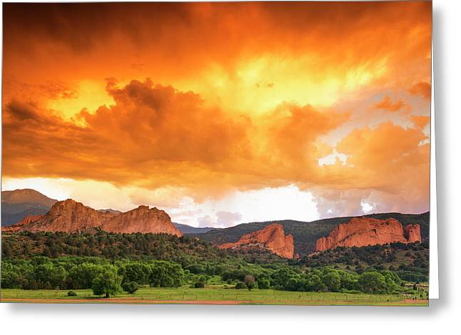 Greeting Card featuring the photograph Beautiful Sunset by Tim Reaves