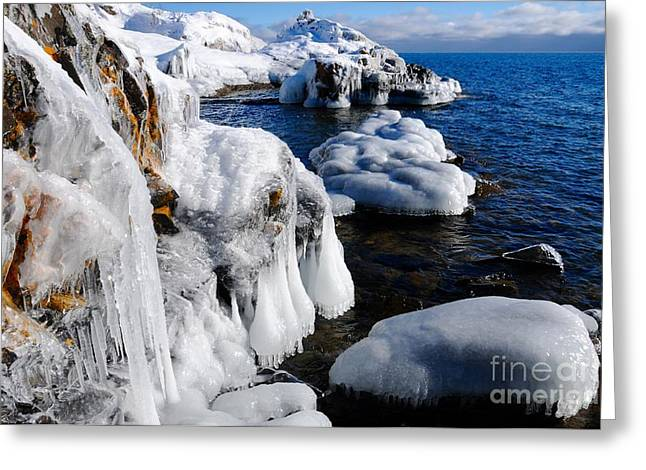 Beautiful Superior Ice Greeting Card by Sandra Updyke