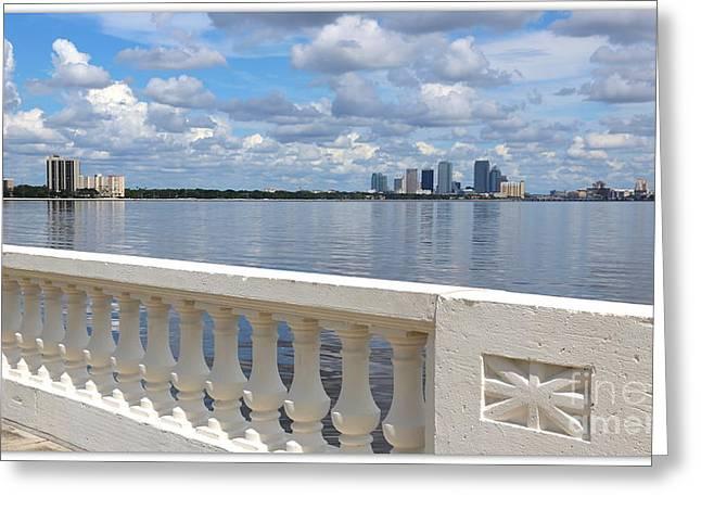 Beautiful Tampa Balustrade Greeting Card by Carol Groenen