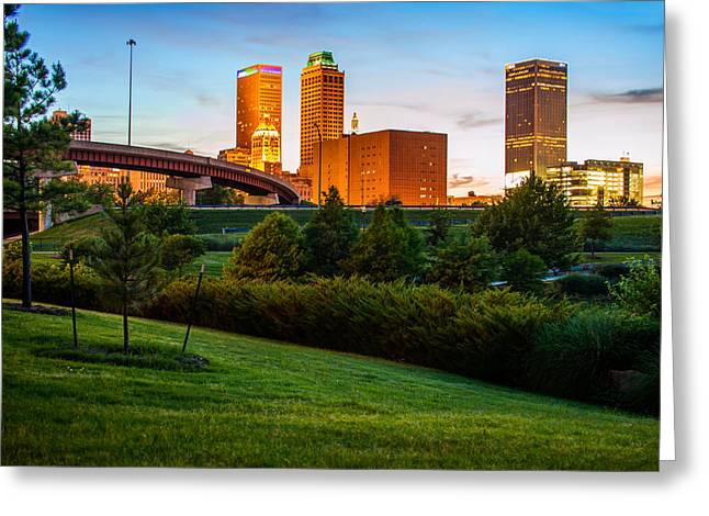 Beautiful Tulsa Oklahoma - Central Park Greeting Card by Gregory Ballos