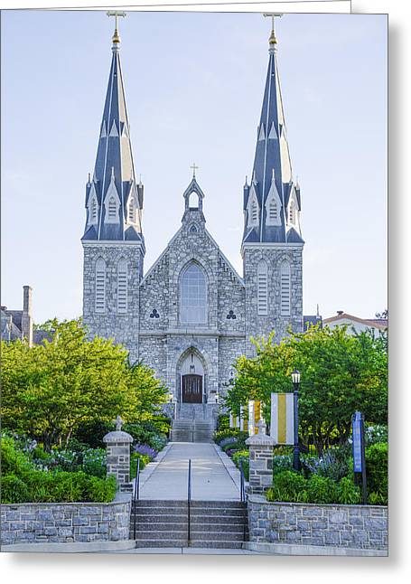 Beautiful Villanova Cathedral Greeting Card by Bill Cannon