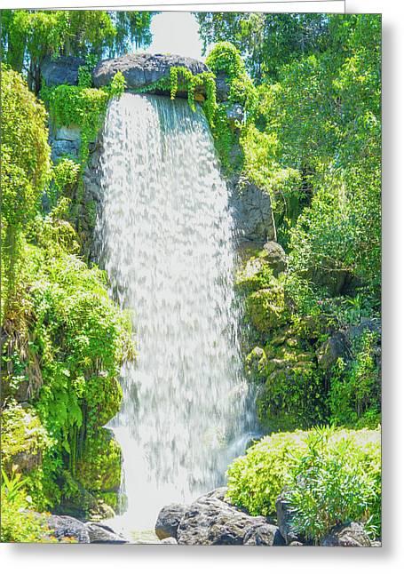 Beautiful Waterfall  Greeting Card by Art Spectrum