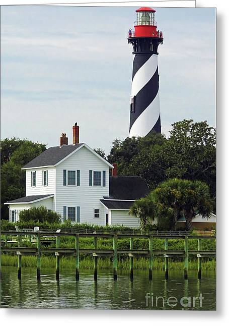 Beautiful Waterfront Lighthouse Greeting Card