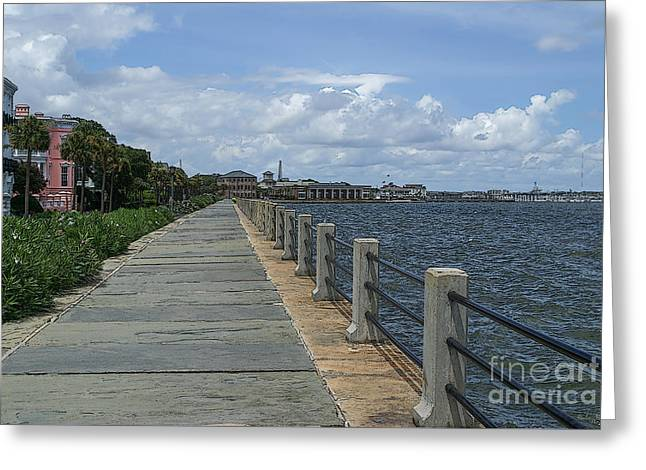 Beautiful Waterfront Walkway Greeting Card