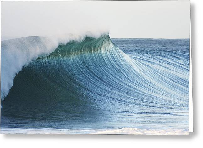 Beautiful Wave Breaking Greeting Card by Vince Cavataio - Printscapes