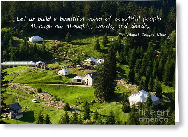 Beautiful World Of Beautiful People  Greeting Card
