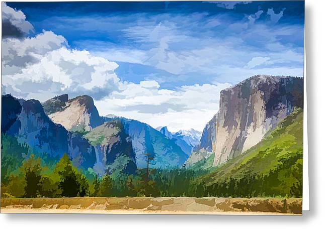 Beautiful Yosemite National Park Greeting Card by Lanjee Chee