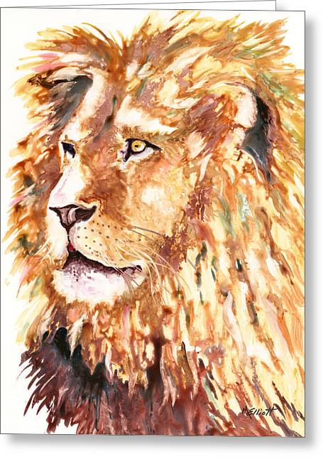 Majestic Cat Greeting Cards - Beauty and Strength Greeting Card by Marsha Elliott