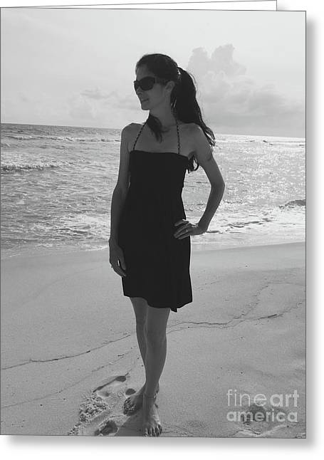 Beauty And The Beach Greeting Card by Megan Cohen