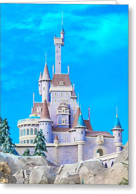 Beauty And The Beast Castle Greeting Card by Mark Andrew Thomas