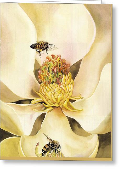 Beauty And The Bees Greeting Card