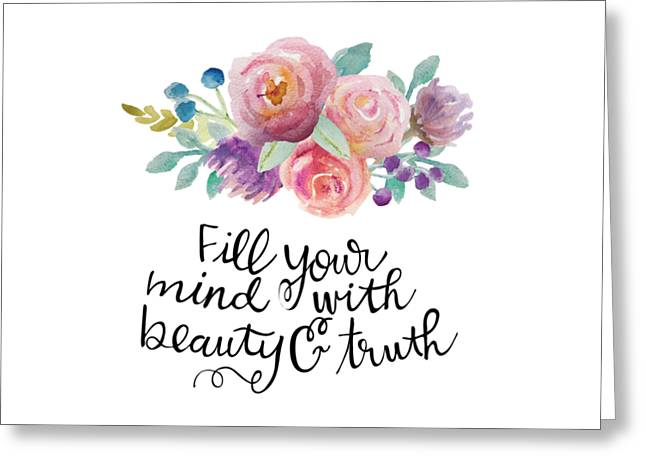 Beauty And Truth Greeting Card