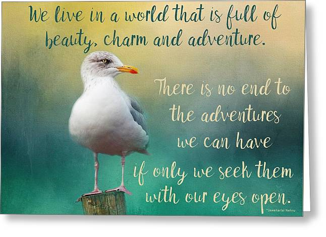 Beauty, Charm And Adventure Greeting Card