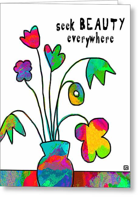 Greeting Card featuring the painting Beauty Everywhere by Lisa Weedn