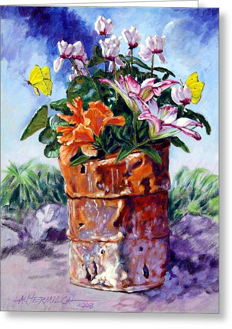 Beauty Grows Everywhere Greeting Card by John Lautermilch