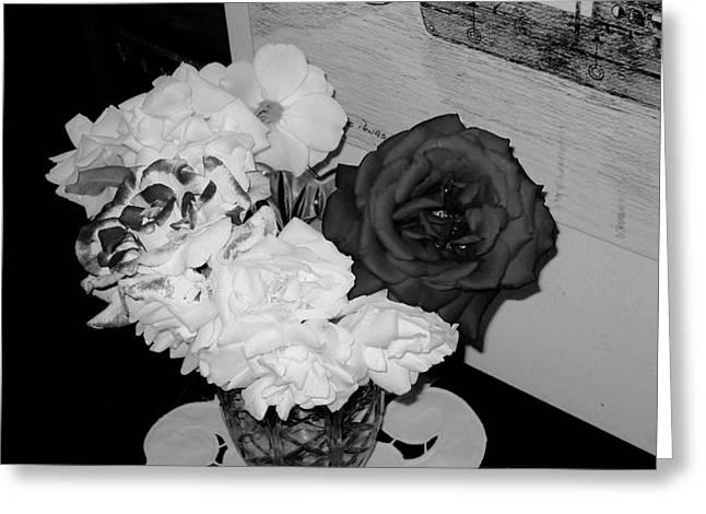 ..beauty In Black And White.... Greeting Card by Adolfo hector Penas alvarado