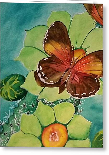 Beauty In Butterflies Greeting Card by Joetta Beauford