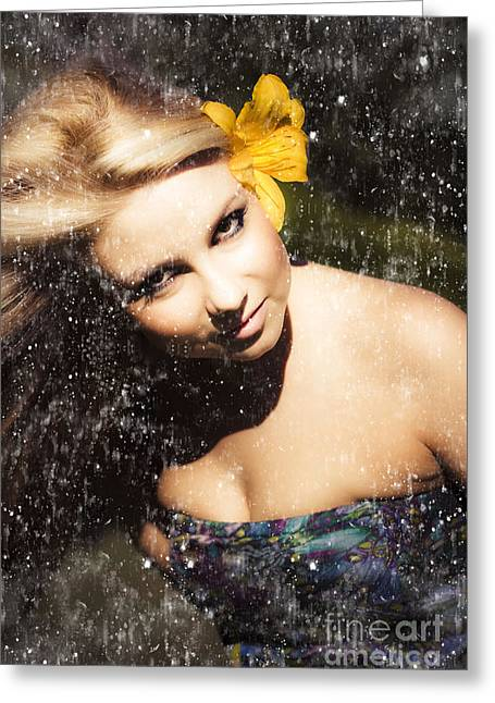 Beauty In Grunge Greeting Card