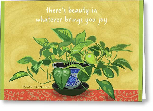 Beauty In Joy Greeting Card