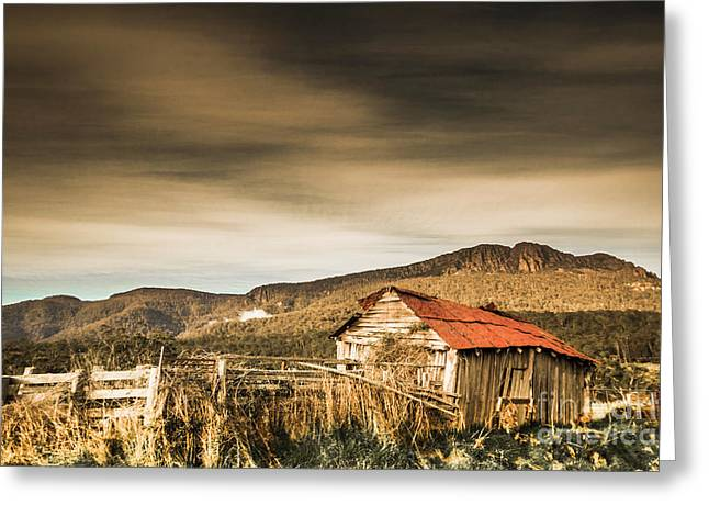 Beauty In Rural Dilapidation Greeting Card
