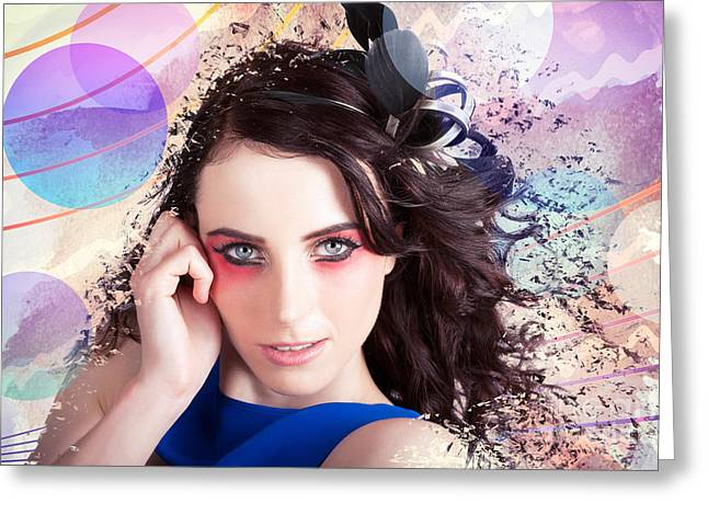 Beauty In The Abstract Colors Of Make-up Greeting Card by Jorgo Photography - Wall Art Gallery