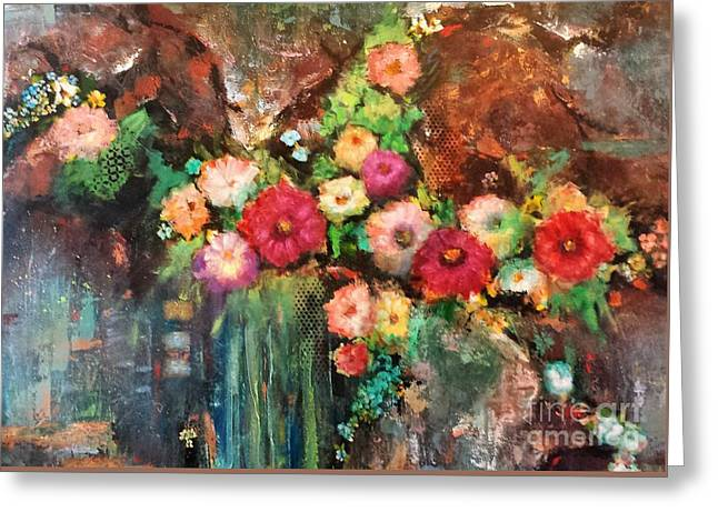 Beauty In The Cracks Greeting Card by Frances Marino