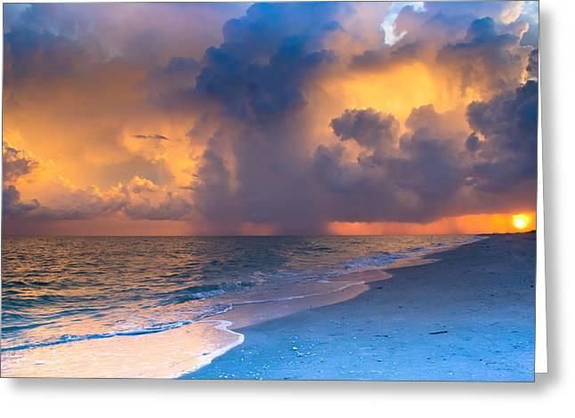 Beauty In The Darkest Skies Greeting Card