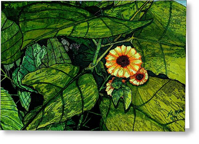 Beauty In The Midst Greeting Card by Willie McNeal
