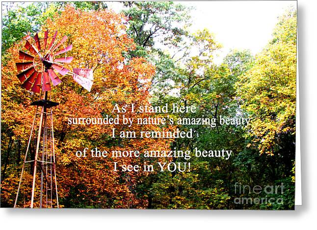 Beauty In You Greeting Card by Gardening Perfection