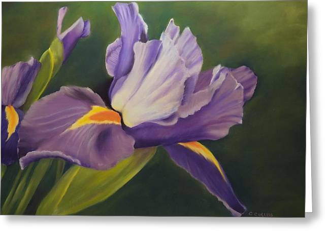 Beauty Is In The Iris Greeting Card