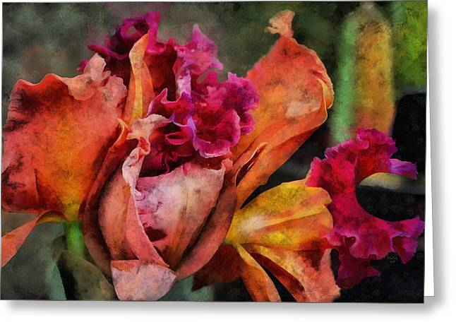 Beauty Of An Orchid Greeting Card by Trish Tritz