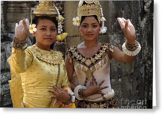 Beauty Of Cambodia 2 Greeting Card by Bob Christopher
