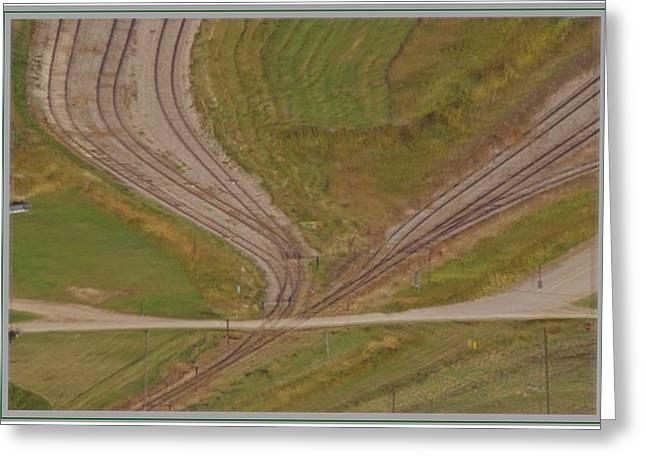 Beauty Of Canadian Railway Tracks Greeting Card