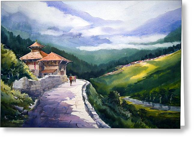 Beauty Of Himalaya Greeting Card by Samiran Sarkar