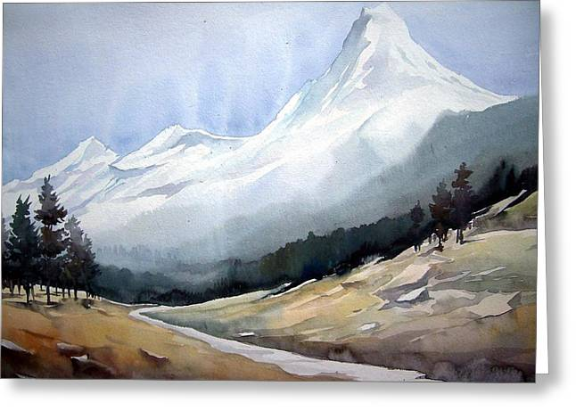 Beauty Of Himlayan Peaks Greeting Card by Samiran Sarkar