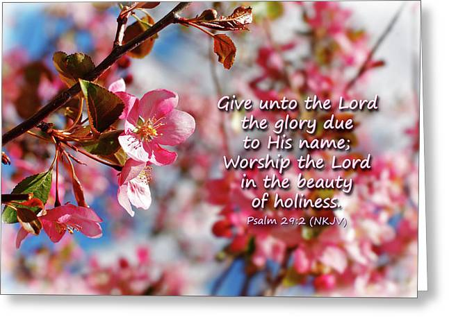 Beauty Of Holiness Greeting Card by Lincoln Rogers