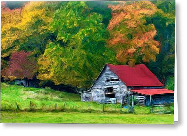 Beauty Of The Leaves Greeting Card by Bobby Blanton