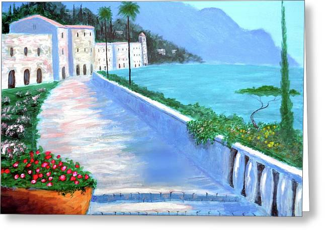 Beauty Of The Riviera Greeting Card