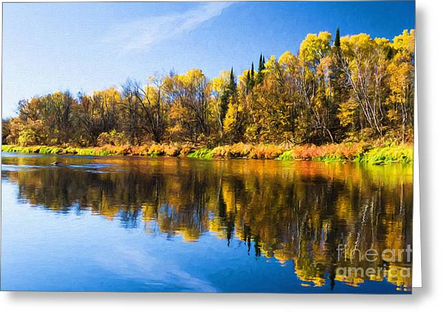 Beauty On The Big Fork Greeting Card