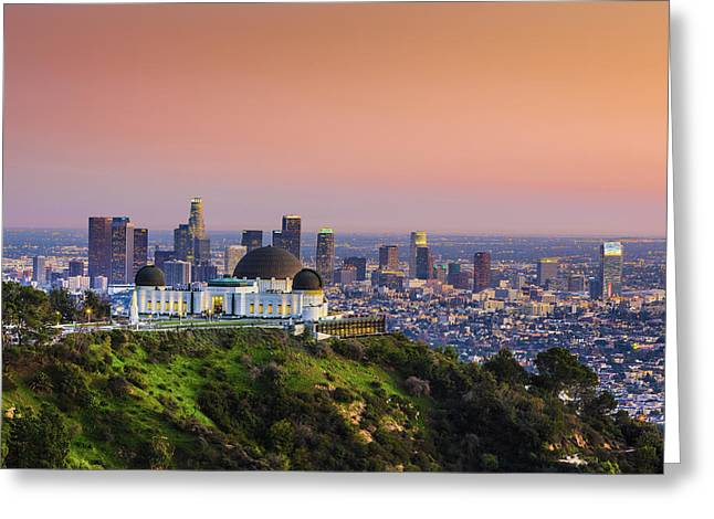 Beauty On The Hill Greeting Card