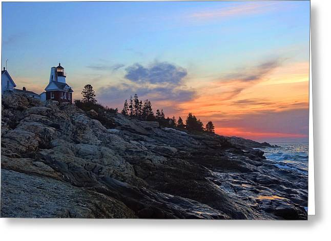Beauty On The Rocks Greeting Card