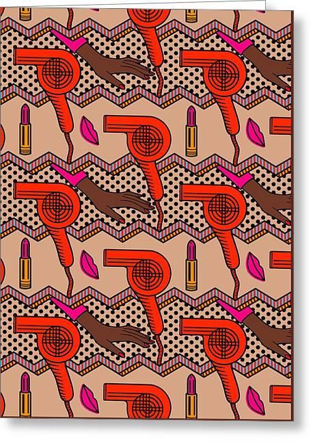Beauty Parlor Greeting Card by Sholto Drumlanrig