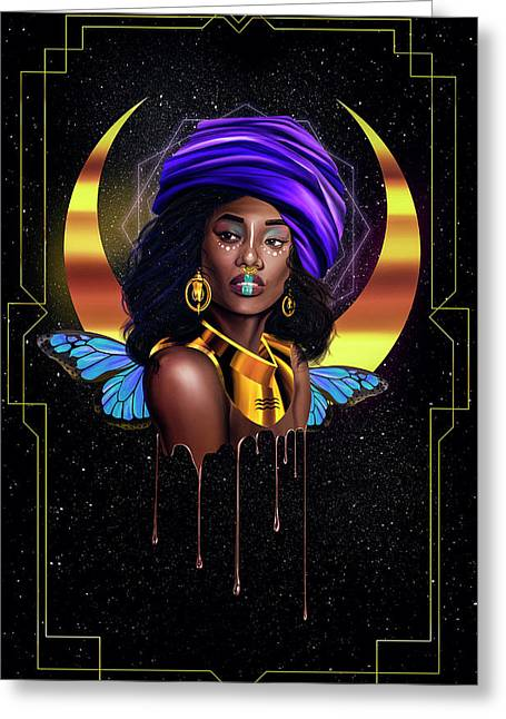 Beauty Queen Tia Greeting Card by Kenal Louis